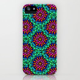 Bright Colourful Mandala print iPhone Case