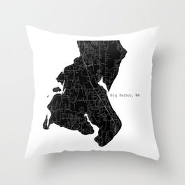 Gig Harbor, WA Throw Pillow