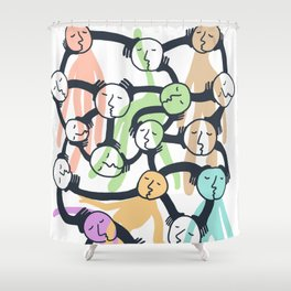 Connected Dreamers Shower Curtain