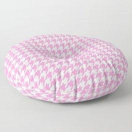 Rose Quartz Houndstooth Floor Pillow