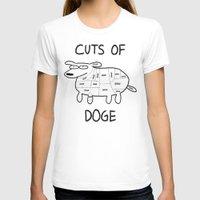 doge T-shirts featuring CUTS OF DOGE by Yiji