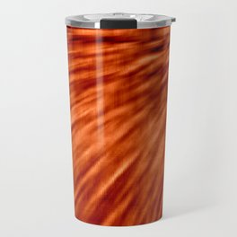 Burnt Orange Pixel Wind Travel Mug