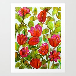 Flowery Concoction  Art Print