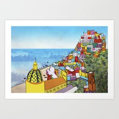 Towns of Italy II Art Print