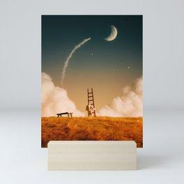 I'm going up there Mini Art Print