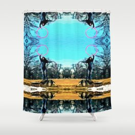 A Chill in the Air Shower Curtain