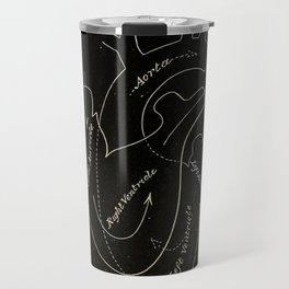 Black heart Travel Mug