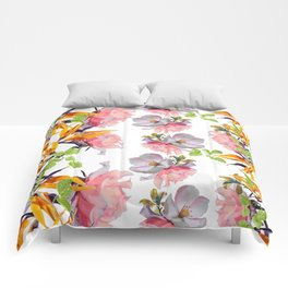Lush Watercolor Florals Comforters