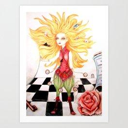 Alice et la boule de cristal Art Print