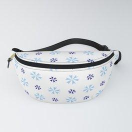 geometric flower 27 dark and light blue Fanny Pack