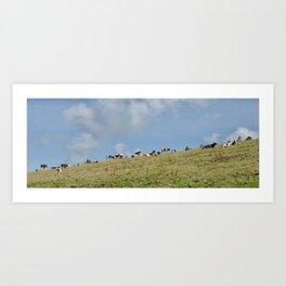 Vaches au champ Art Print