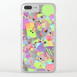 Rad Retro Party Clear iPhone Case