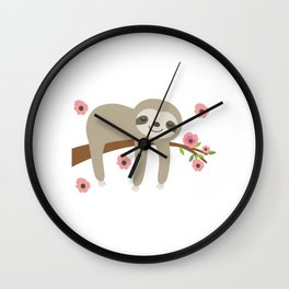 SLoth Live Slow Die Whenever Wall Clock