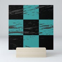 Plaid Retro Pattern Mini Art Print