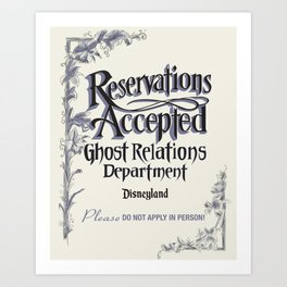Reservations Accepted by Topher Adam 2016 Art Print
