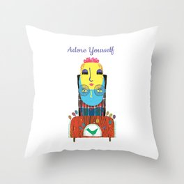 Adore Yourself Throw Pillow