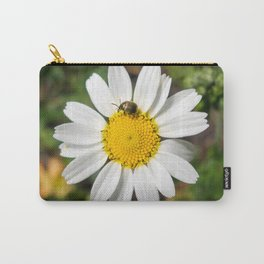 Magic Field Summer Grass - Chamomile Flower with Bug - Macro Carry-All Pouch