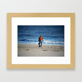 Searching The Beach Framed Art Print
