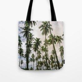 Palm Trees Kauai Hawaii Printable Wall Art | Tropical Beach Nature Ocean Coastal Travel Photography Print Tote Bag