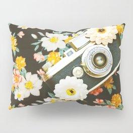 Floral Vintage Camera (Color) Pillow Sham