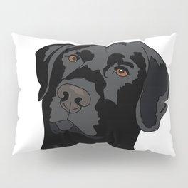Duke the black lab Pillow Sham
