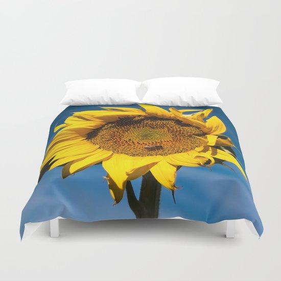 Sunflower in LOVE Duvet Cover