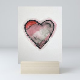 Stained Heart Mini Art Print