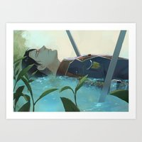 snk Art Prints featuring The dreamer (Levi, SnK) by sushishishi