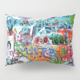 grafitti wall Pillow Sham