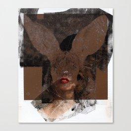 Polaroid Bunny  Canvas Print