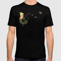 Resting on a dandelion MEDIUM Mens Fitted Tee Black