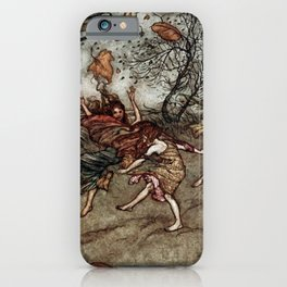 """Autumn Fairies"" by Arthur Rackham iPhone Case"