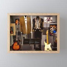 Stevie Ray Vaughan Exhibit - Family Style Framed Mini Art Print