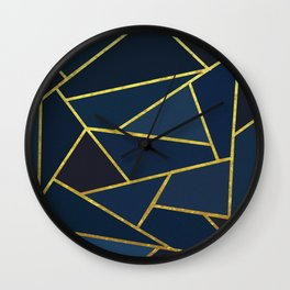 The Color of Navy And Gold Wall Clock