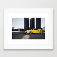 lamborghini Framed Art Prints featuring Lamborghini by Speed-Photos