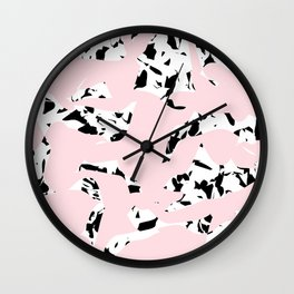 pattern no. 5 / milk & chocolate & strawberry Wall Clock