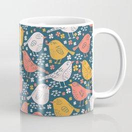 Bird Song Yellow & Pink Coffee Mug