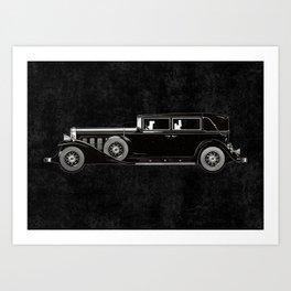 Retro car pattern Art Print