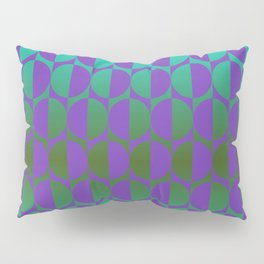 1974, violet and green Pillow Sham