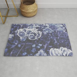 BLUE SERIES Not So Common, Blue wall-art, Nature, Botanical, Plant, Photography Rug