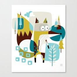 Fox in a box Canvas Print