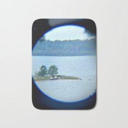 Through binoculars and cellphone Bath Mat