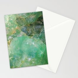 Absinthe Green Quartz Crystal Stationery Cards