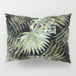 Jungle Dark Tropical Leaves #decor #society6 #pattern #style Pillow Sham