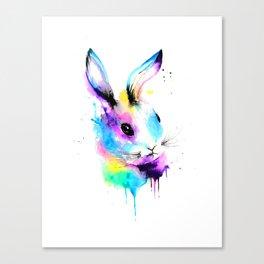 Rainbow Bun Bun Canvas Print