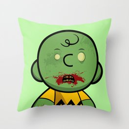 Zombie Charlie Brown Throw Pillow