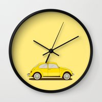 vw Wall Clocks featuring VW by Robert Gustafsson