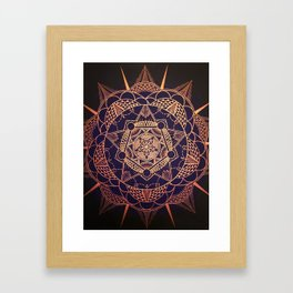 Star Mandala Framed Art Print