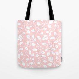Floral on pink Tote Bag