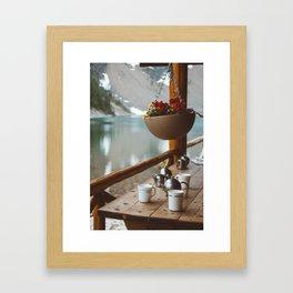 Mountain Tea House Framed Art Print